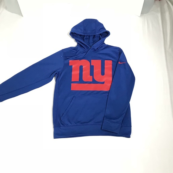 Nike Shirts   Small Thermafit Ny Giants Hooded Sweatshirt   Poshmark  for sale
